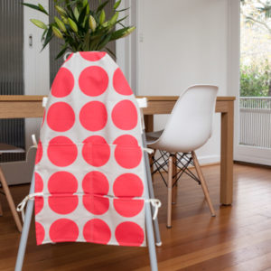 fluro pink spot small high chair caddy