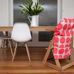 fluro pink spot large high chair caddy