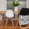 white with black cross large high chair caddy