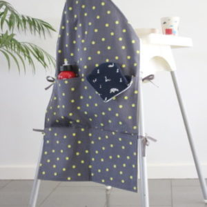 yellow spot small high chair caddy