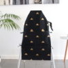 Landscape-black-gold-triangle-lsmall-high-chair-caddy-lback-empty