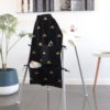 Lifestyle-black-gold-triangle-small-high-chair-caddy-angle