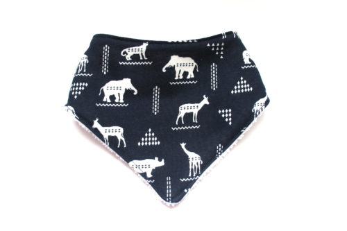 African Animal Dribble Bib