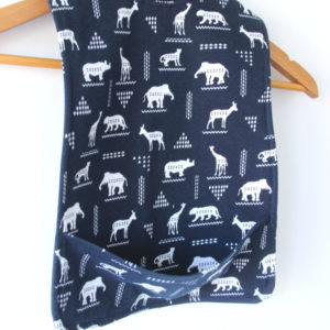 Extra Long African Animal Bib