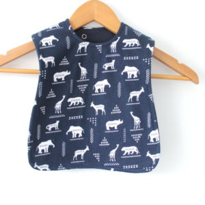 medium african animal bib