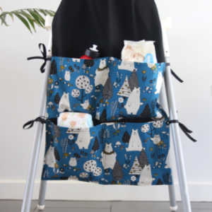 bears print small high chair caddy