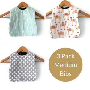 3 Pack of medium girls bibs