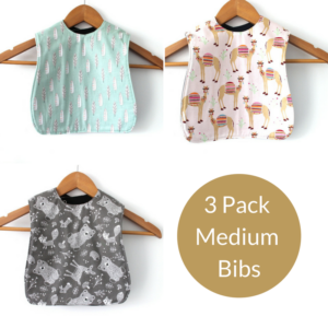 3 Pack Medium Girls Bibs