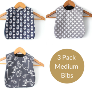 4 pack boys medium bibs