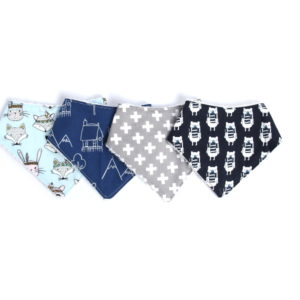 boys 4 pack dribble bibs