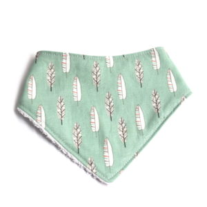 Grean leaf dribble bib