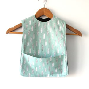Extra Long Feather Print bib