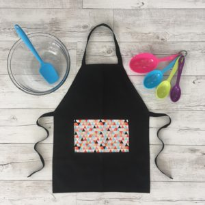 Kids Cooking Apron Trippy Triangle Print