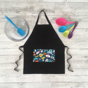 kids cooking Apron grumpy dog print