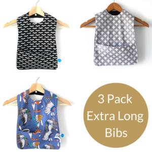 3 Pack long boys bibs