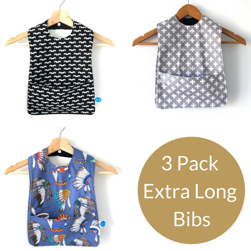 3 Pack Boys Extra Long Bibs  dd6956acb