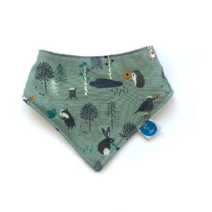 little friends of the forest dribble bib