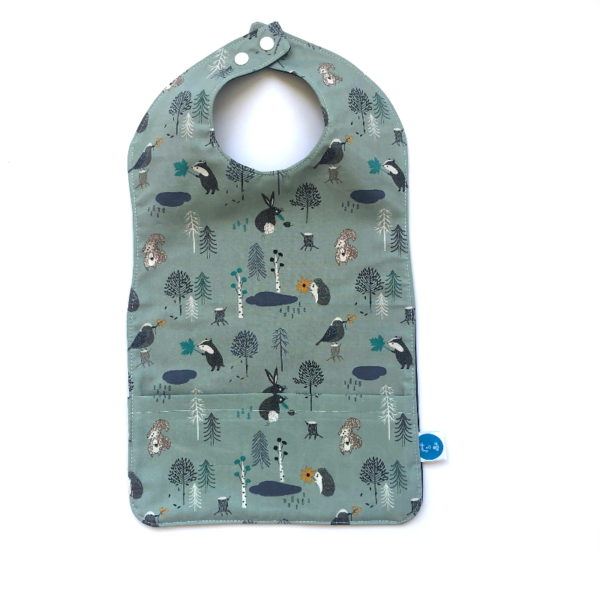 Little Friends of the Forest Print Extra Long bib
