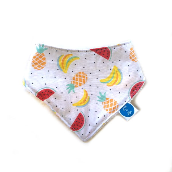 Fruit Salad Print Dribble Bib